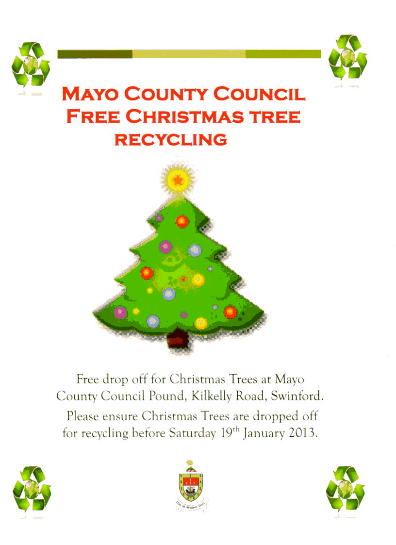 Christmas Tree Recycling Uttlesford : Christmas tree recycling swinford tidy towns